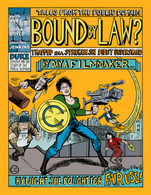 Cover of comic entitled Bound by Law? ©2006 Keith Aoki, James Boyle, Jennifer Jenkins